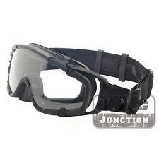 Tactical Anti-Fog Ballistic Goggle Interchangeable Glasses Eyewear w/ Turbo Fan