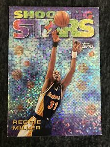 1997 TOPPS SHOOTING STARS REGGIE MILLER #9 Indiana Pacers. Insert