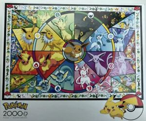 Pokemon Buffalo Games- Eevee's Stained Glass 2000 Piece Jigsaw Puzzle