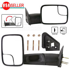 Pair for 94-01 Dodge Ram 1500 94-02 Ram 2500 3500 Pickup Manual Tow Mirrors