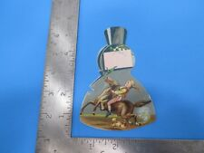 Vintage Advertising Trade Card Perfume Bottle with Girl Riding Horse S4540