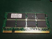 Elpida 512MB 266MHz PC2100S DDR SODIMM RAM Laptop Memory EBD52UC8AARA-7B
