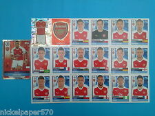 Topps Champions League 2016-17 2017 Team Arsenal 2016 2017 completo