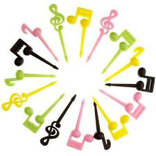 16pcs Music Notes Food Fruit Picks Forks Lunch Box Accessory Decor  CA #R
