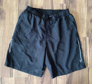 Salomon Mens Black Trail Running Shorts ActiLite Size Medium