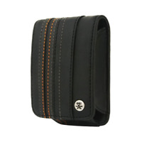 Crumpler Gofer Royale 55 Leather Compact Camera Case - Dull Black / Dark Grey