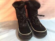 Sorel Tivoli III Waterproof Snow Boots Womens Size 10 Faux Fur Liner Black NWOB