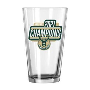 2021 NBA CHAMPIONS Milwaukee Bucks 16oz Pint Glass