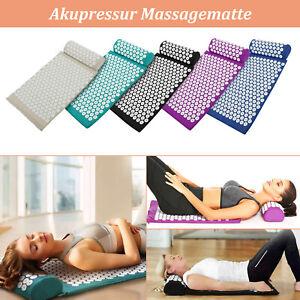 Akupressur-Set Nagelmatte Akupressurmatte Massagematte & Kissen Akupunktur DE
