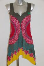 bonito vestido verano asimétrico multicolor DESIGUAL talla M excelente estado