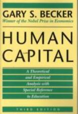 Human Capital: A Theoretical and Empirical Analysis, with Special Reference to E