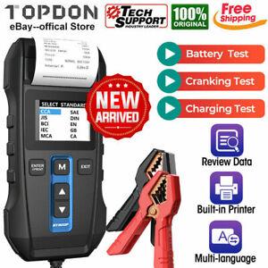 Auto Voiture Batterie Testeur Avec Imprimante 6V 12V Démarrage Chargeur Essai