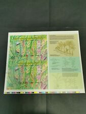 1999 malaysia stamp week heliconia flower plants full sheet uncut imperf 20v MNH