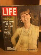 LIFE MAGAZINE- DEATH THROES OF THE GALLO MOB - ELSA MARTINELLI - AUG 30, 1963