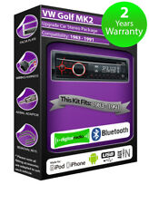 VW Golf MK2 DAB radio, Clarion stereo Bluetooth kit with AUX USB Smartphone