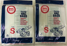 2PK OF 3 Vacuum Bags, HOOVER Type S for Futura & Spectrum Canisters. 109SW