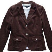 Brooks Brothers 346 Petite Womens Corduroy Blazer Brown Suit Jacket Sz 4 P