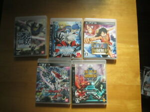 USED PS3 5pcs One piece Gundam etc free shipping from Japan