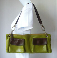 CLEO & PATEK Hobo Handbag Green and Brown