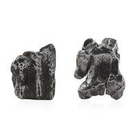 Boho Handmade 925 Sterling Silver Platinum Plated Meteorite cufflink For Mens