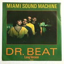 "MIAMI SOUND MACHINE Dr. Beat (Long Version) 1984 12"" Single Gloria Estefan VG+"