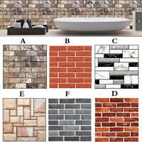PVC Waterproof Wall Sticker 3D Mosaic Tile Wallpaper Bathroom Home Decor