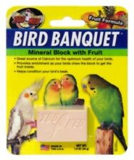 ZOO MED BIRD BANQUET MINERAL BLOCK WITH FRUIT - 28G