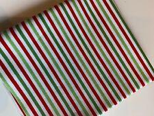 Christmas Stripe Fat Quarter, Riley Blake Designs, Stripe RED GREEN WHITE