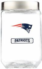 New England Patriots Jar Glass Canister Large Container With Lid Duckhouse NFL