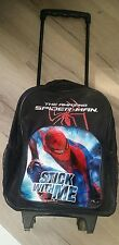 KIDS WHEELED TROLLEY BAGS THE  AMAZING SPIDERMAN STICK WITH ME, LUGGAGE TRAVEL