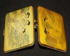 Collection Ancienne carré-forme Maquillage Miroir, Décoré avec Art image