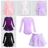Girls Ballet Dance Dress Leotard with Skirt/Tutu Kids Unitard Dancewear Outfits