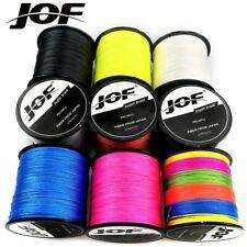 JOF 100M Multicolor PE Braided Wire 8/4 Strands Multifilament Fishing Line