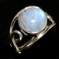 Rainbow Moonstone Ring Solid 925 Sterling Silver Ring Handmade Ring Size All sr2