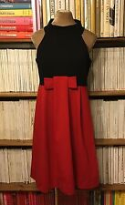ALICE SAN DIEGO red black jersey dress IT 48 UK 14-16 / US 10-12 abito vestito