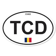 CHAD COUNTRY OVAL BUMPER STICKER OVAL 120mm x 78mm