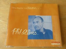 Phil Collins – You Ought To Know... - Picture Disc CD Promo 1997