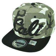 California Cali Bear Republic Hat Cap Snapback Flat Bill Camouflage Camo Gray