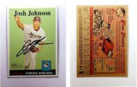 Josh Johnson Signed 2007 Topps Heritage #143 Card Florida Marlins Auto Autograph