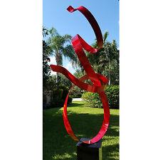 Large Red Metal Modern Abstract Indoor/Outdoor Yard Sculpture by Jon Allen