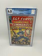 Sgt. Fury #13 - CGC 6.0 - Captain America & Bucky Appearance - Marvel Comics