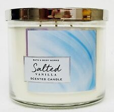 1 Bath Body Works SALTED VANILLA Scented Large 3-Wick Candle 14.5 oz