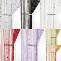 Dew Drop Beaded Chain String Curtain ~ Screen & Room Divider ~ Voile Net Panels