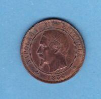 (BR.24) 10 CENTIMES NAPOLÉON III 1856 K BORDEAUX (TTB)