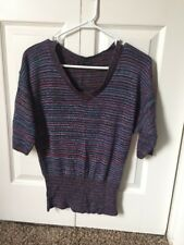 Maurices Womens Striped Light Weight Sweater Size Medium