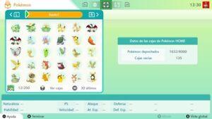 Pokemon Home Espada Escudo  (1-7Gen) 927 Pokemon 100% Legales Shiny  Switch