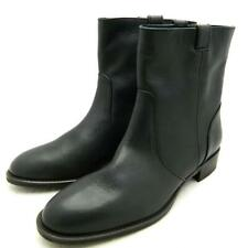 JCREW $248 Dix Tab Leather Ankle Boots 9.5 black shoes winter