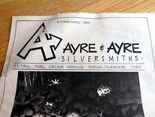 Ayre & Ayre Silversmiths Retail Mail order Catalog 1989 Sping/ Summer vintage