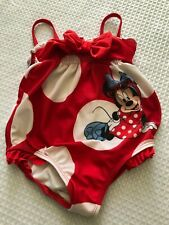 DISNEY STORE MINNIE MOUSE 1-PIECE SWIMSUIT BABY 12/18M