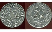 POLOGNE  20 groszy 1923  .